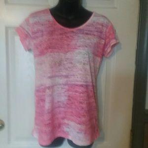 2/20 Pink purple and white mesh Earth Yoga shirt